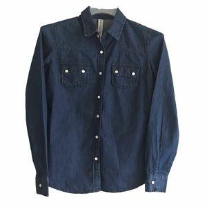 Denim & Company Denim Pearl Buttons Shirt 4